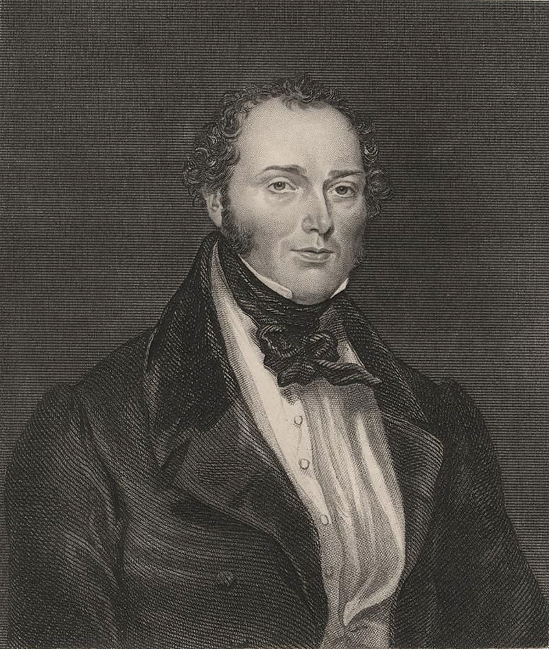 Portrait of Chartist leader Feargus O'Connor.