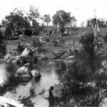 Blue Hole on the Gara River near Armidale NSW c. 1900.