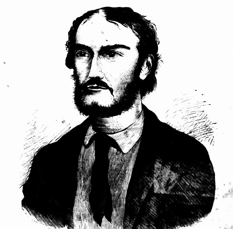Woodcut engraving of Frederick Ward published in June 1870