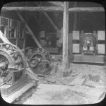 Interior view of the Gara River power station showing Crompton generators. Source: State Library of Victoria.