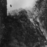 Hydroelectric equipment being lowered into the Styx Gorge NSW 1907