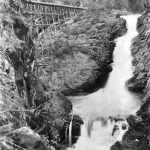 Joseph Check photograph of Styx River Falls about 1908