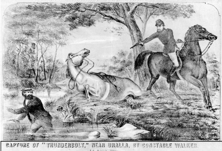 Engraving of the capture of Frederick Ward at Kentucky Creek.