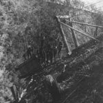 Hydroelectric machinery being lowered into the Styx Gorge NSW 1907