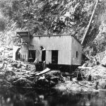 Power station at Styx River, probably late 1907.